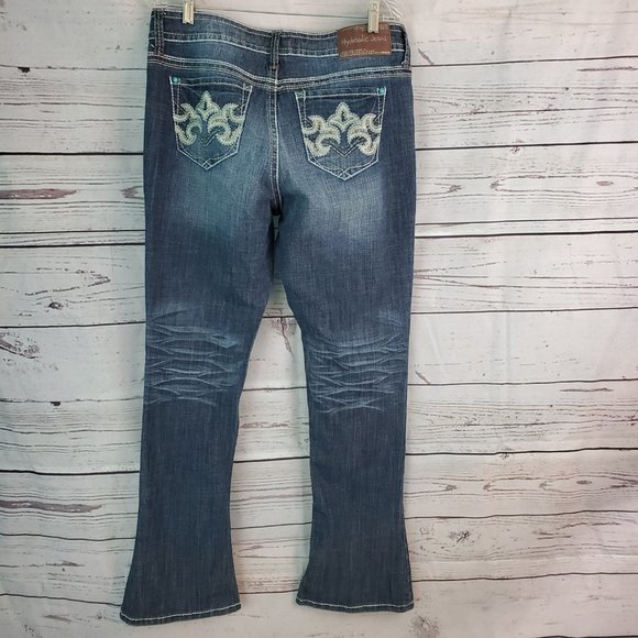 Hydraulic Jeans Bailey Embroidered Turquoise 14